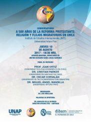2017. Invitación foro a 500 años de la Reforma Protestante.